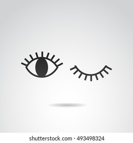 Eye icon isolated on white background. Vector art.