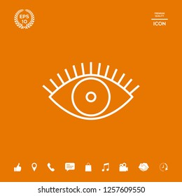 Eye icon - line concept. Graphic elements for your design