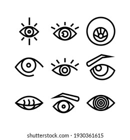 eye icon or logo isolated sign symbol vector illustration - Collection of high quality black style vector icons