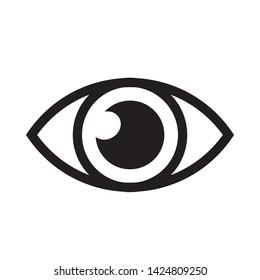 eye icon logo vector design template