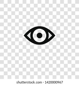 eye icon from miscellaneous collection for mobile concept and web apps icon. Transparent outline, thin line eye icon for website design and mobile, app development