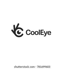 Eye icon. Ok symbol, Okay vector logo, high quality