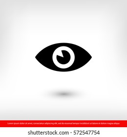 Eye icon. One of set web icons