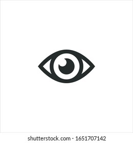Eye icon sign flat. illustration