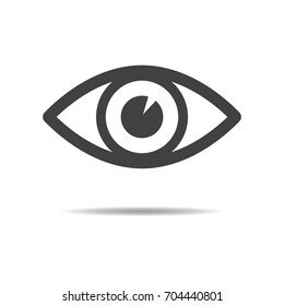 Eye icon - simple flat design isolated on white background, vector