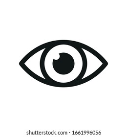 The eye icon. Simple vector illustration.