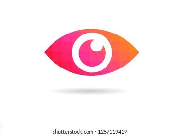 Eye icon - eye symbol.  flat eye sign vector. colorful eye icons - Vector