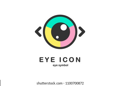 eye icon eye symbol eye logo flat colorful vector