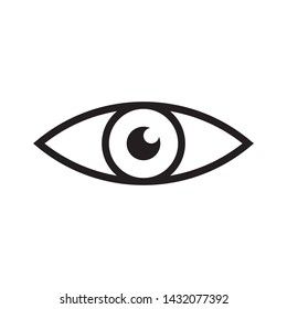 Eye icon. Symbol of vision. Linear vector pictogram.