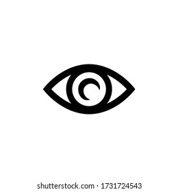 Eye icon thin line for web and mobile