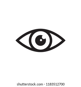 eye icon in trendy flat design