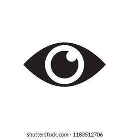 eye icon in trendy flat design