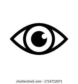 Eye Icon Vector Design for web, isolated on white background