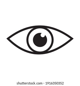 eye icon vector illustration sign