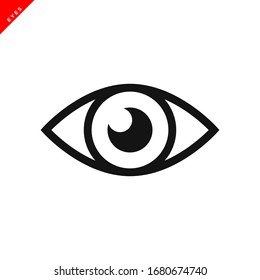 eye icon vector logo template