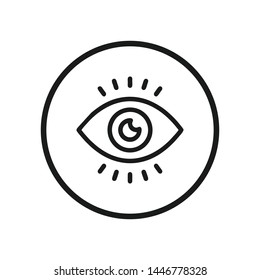 Eye icon vector. Look and Vision symbol. Eye logo design inspiration