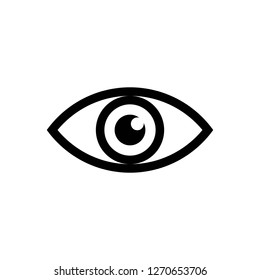 eye icon vector, on white background editable eps10
