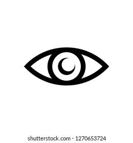 eye icon vector, on white background editable eps10