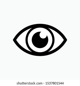 Eye Icon - Vector, Sign and Symbol for Design, Presentation, Website or Apps Elements.