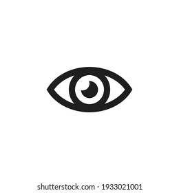 Eye icon vector. Simple vision sign