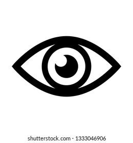 Eye icon vector. Eye symbol. Flat design style. Vector  illustration.