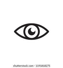 Eye icon vector. Eye symbol. Linear style sign for mobile concept and web design. Eye symbol illustration. Pixel vector graphics - Vector.