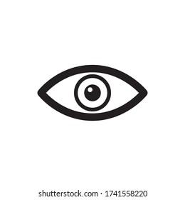 Eye Icon Vector in Trendy Flat Design