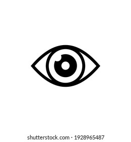 Eye icon vector. Vision icon symbol illustration
