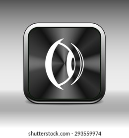 Eye icon vision view vector look see sight symbol.