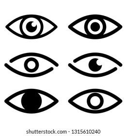 eye icons set. line style.  Set eye symbols for web design.