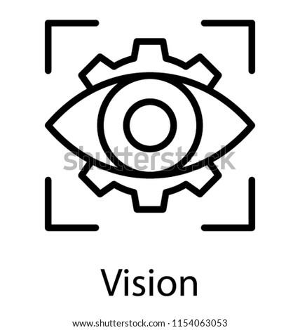 Eye Inside Camera Focus Showcasing Vision Stock Vector Royalty Free