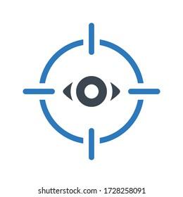 eye lens target vector glyph color icon