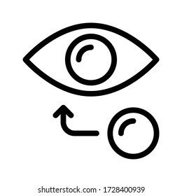 eye lens vector thin line icon