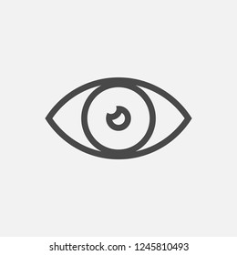 Eye line icon eps10
