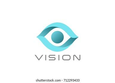 Eye Logo abstract design vector template. Vision SPY Search Logotype concept icon.