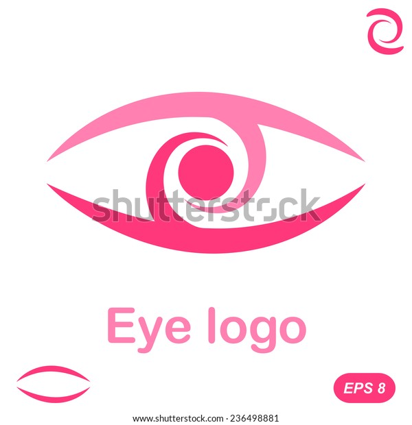 Eye Logo Conception 2d Flat Illustration Stock Vector Royalty Free