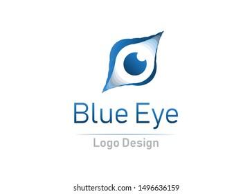eye logo design. ready use logo template. editable vector logo