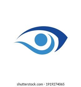 eye logo design template vector based