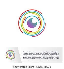 Eye Logo design vector template. Spiral Vision, Vortex, Circle. Colorful Icon