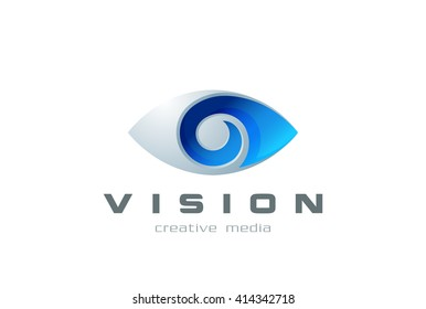 Eye Logo symbol abstract design vector template search, spy, photography. Vision creative Logotype concept ophthalmology lens icon.