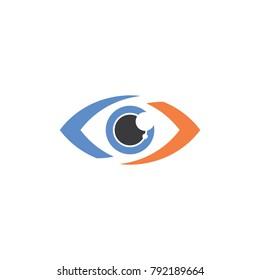Eye logo template, modern vector icon illustration