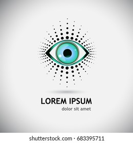 Eye logo. Vector