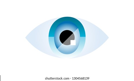 Eye logo vector design. Vision logo