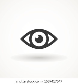 Eye , Look and Vision icon. Web site page and mobile app design vector element. Sign of view, look, opinion, glance, peek, , glimpse, dekko, eyebeam, eyewink . Flat design style.