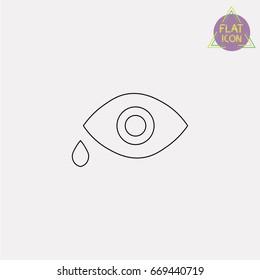 eye medicine line icon