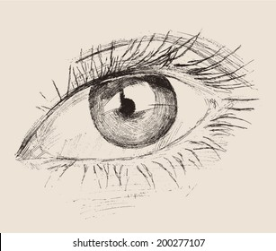 Abstract Eye Sketch Stock Illustrations Images Vectors