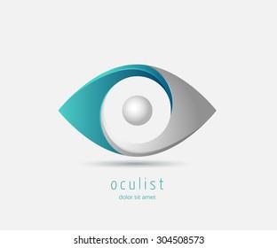eye optic abstract shape logo design template