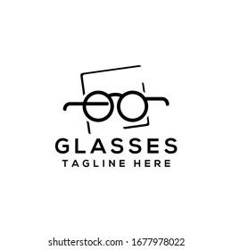 Eye optic Store Glasses Logo Template Vector