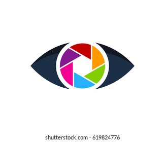 Eye Photo Icon Logo Design Element