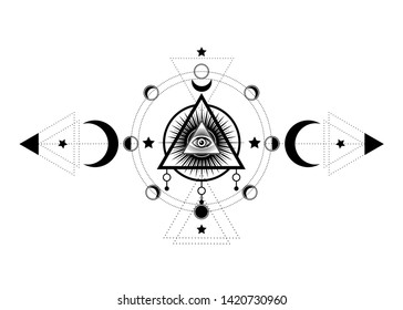 Moon Phases Tattoo Images, Stock Photos & Vectors   Shutterstock